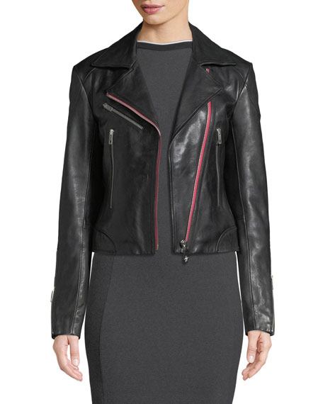 Griffin Zip-Front Leather Jacket and Matching Items &