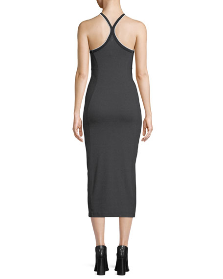 Watts Racerback Engineered Knit Midi Dress
