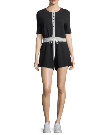 T by Alexander Wang Heavy Waffle Knit Button-Down