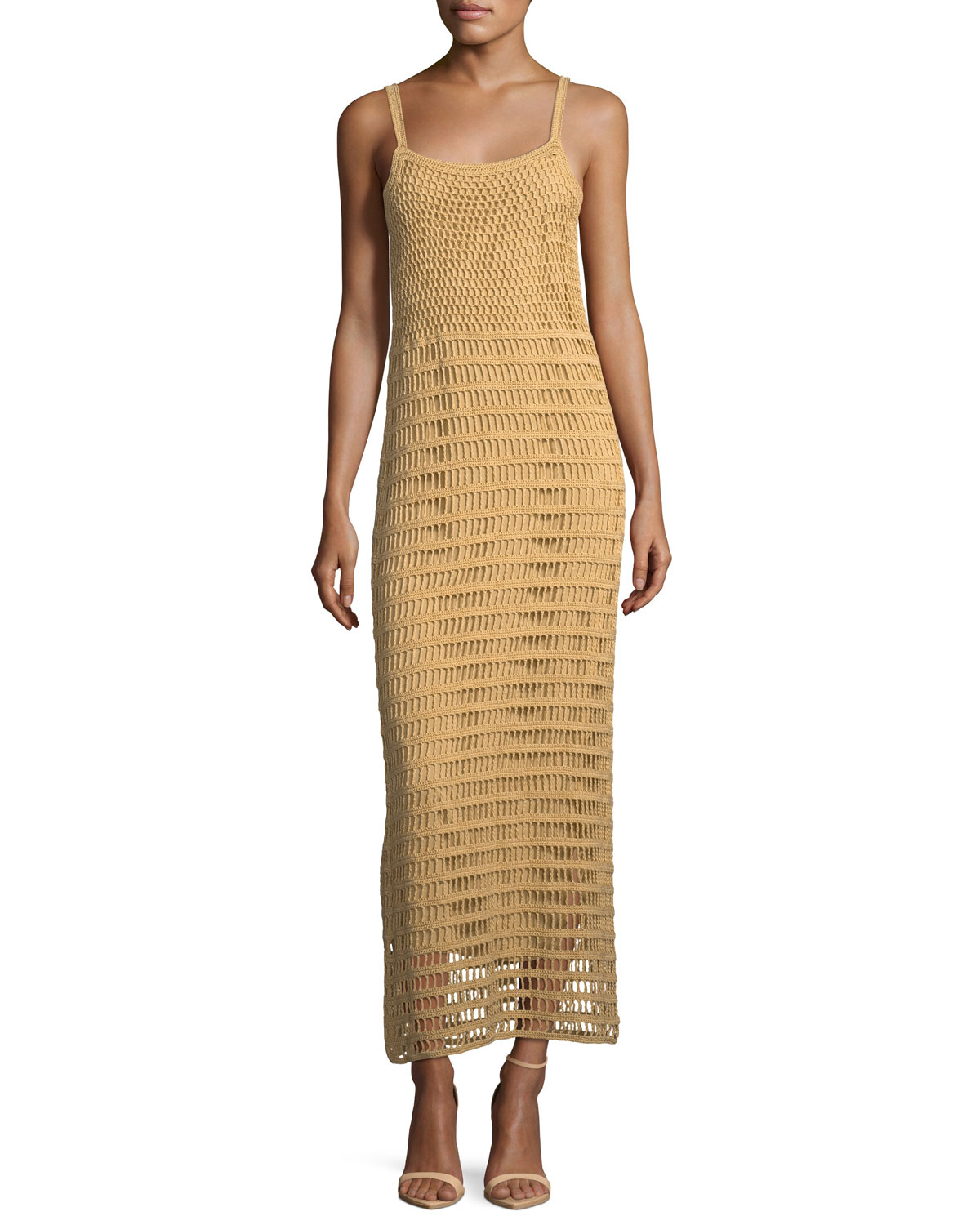 Elizabeth James Edna Hand Crochet Long Sleeveless Dress Neiman