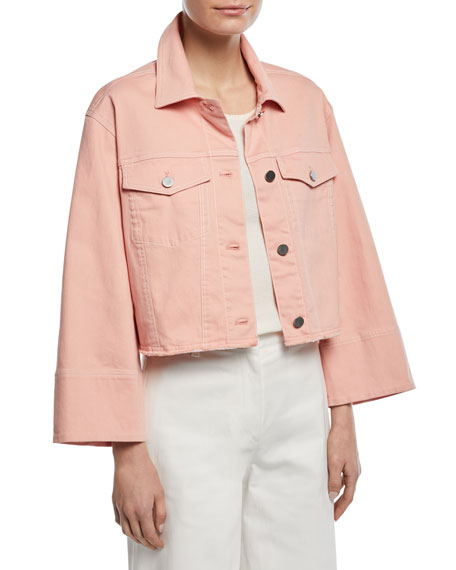 Elizabeth and James Branson Cropped Boxy Denim Jacket