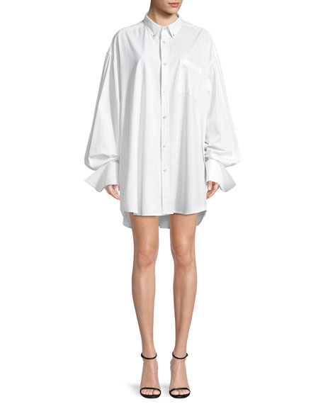 Helmut Lang Shayne Oliver Beaded-Logo Button-Front Oversized