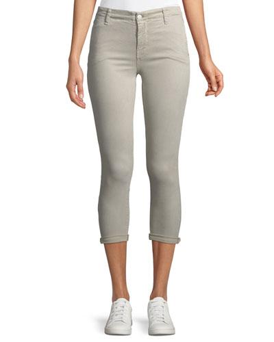 Anja Mid-Rise Skinny Cuffed Crop Jeans