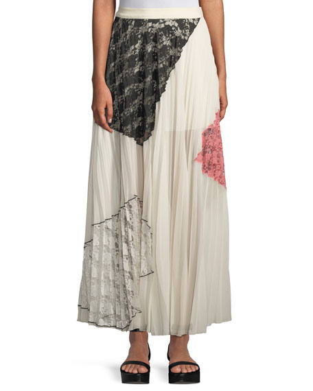 Derek Lam 10 Crosby Pleated Midi Skirt with