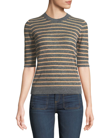 Dean Crewneck Striped Sweater