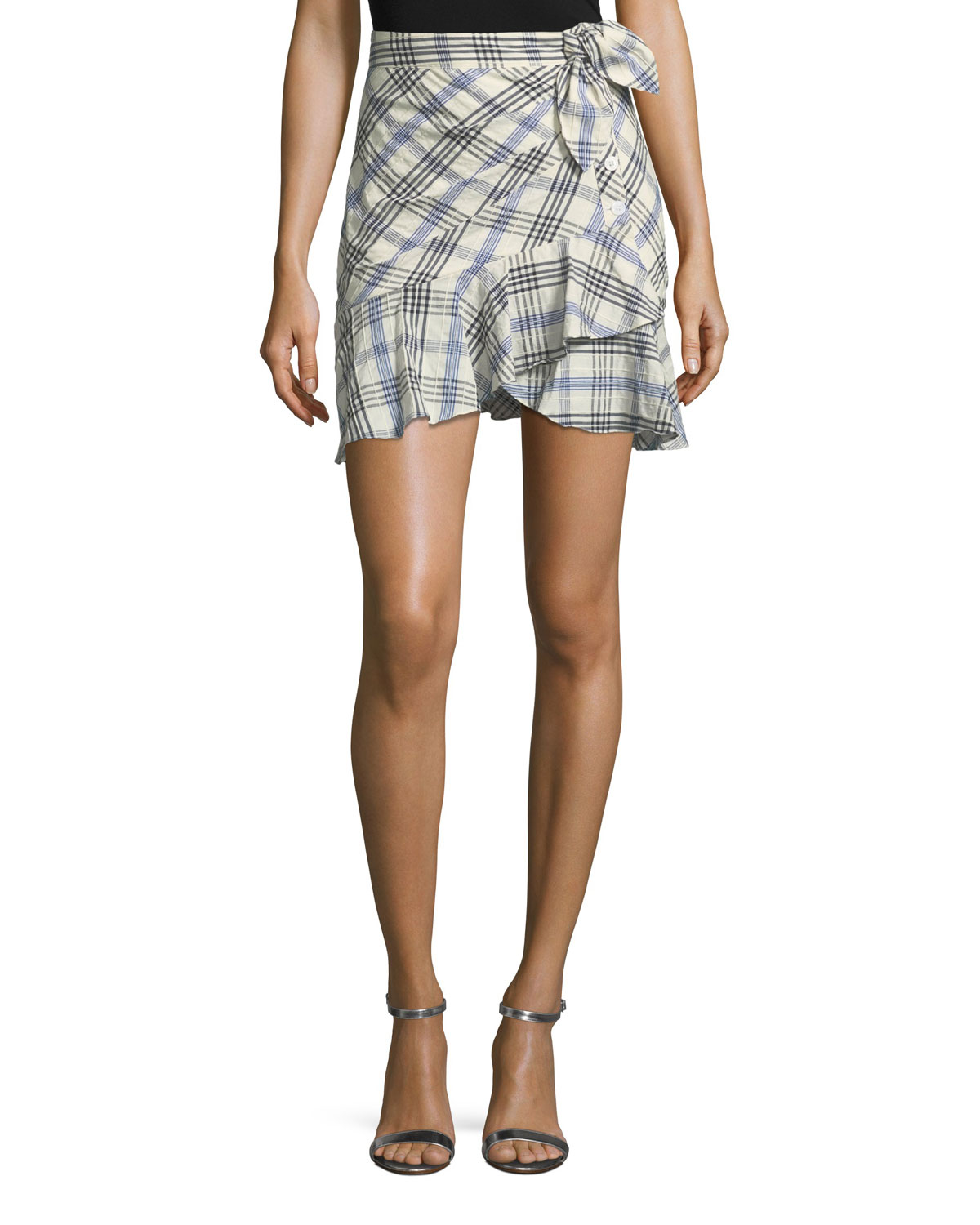 0bf38d389 Quick Look. Veronica Beard · Kaia Tie-Waist Plaid Mini Skirt