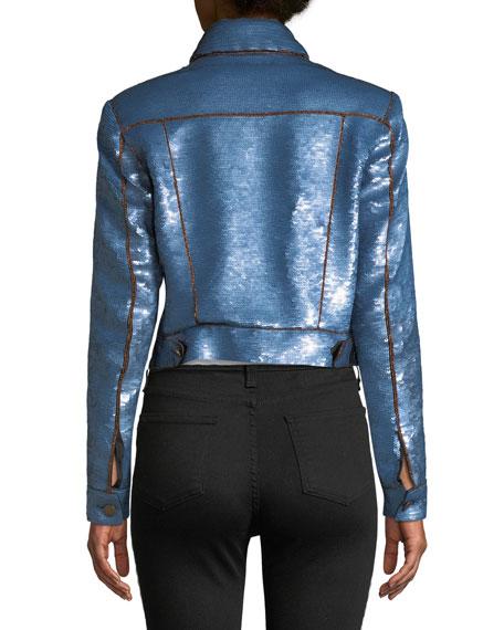 Luz Sequined Crop Jacket