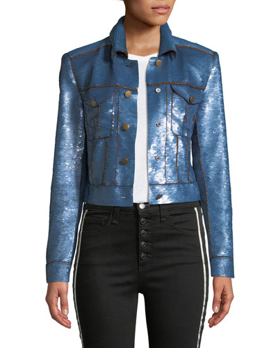 Luz Sequined Crop Jacket