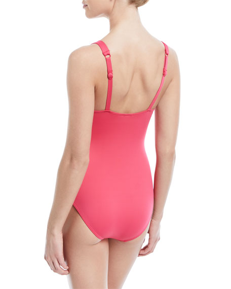 Flora Underwire Ruched One-Piece Swimsuit, E-F Cup