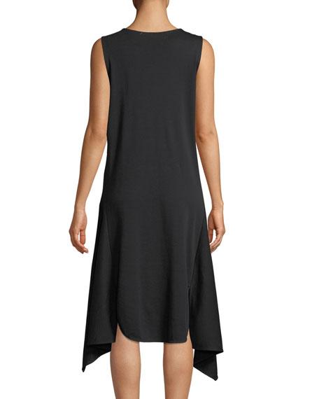 Sleeveless Cotton Handkerchief-Hem Dress