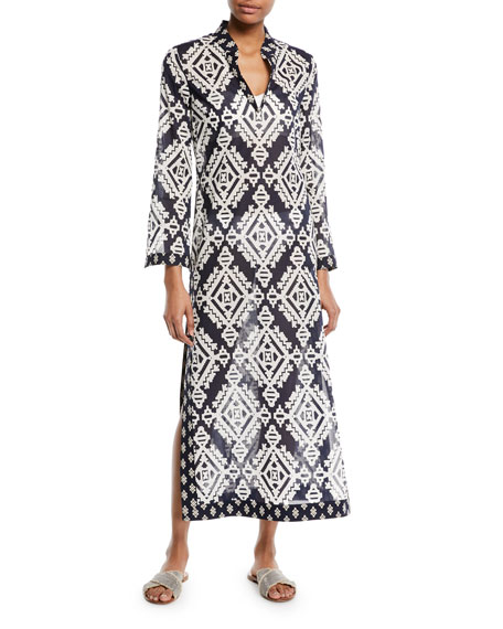 Tory Burch Stephanie Maxi Caftan Coverup Dress