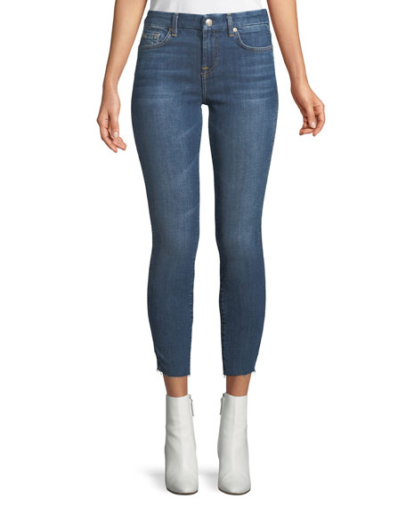 7 for all mankind Mid-Rise Ankle Skinny Leg