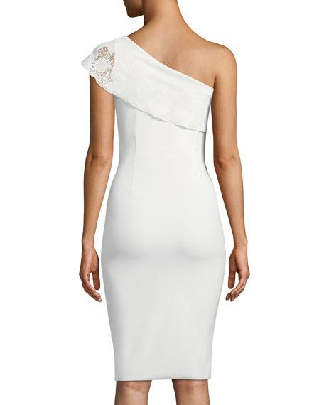 Dedy Asymmetric One-Shoulder Cocktail Dress