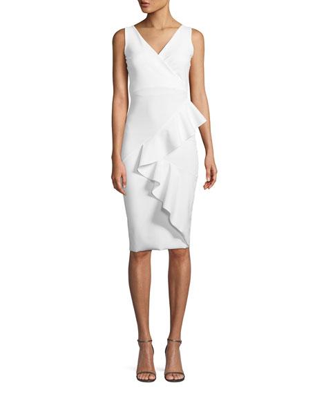 Chiara Boni La Petite Robe Ceren Asymmetric-Ruffle Wrap