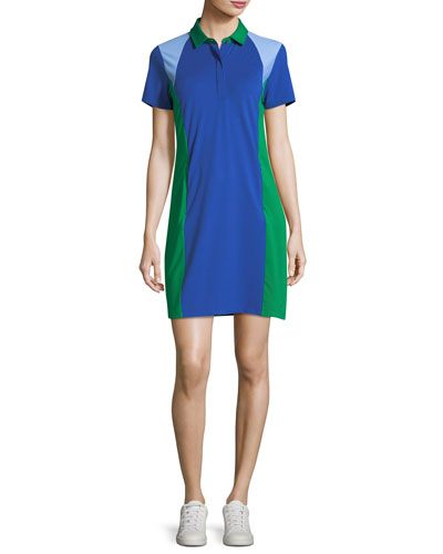 Colorblock Pique Polo Dress