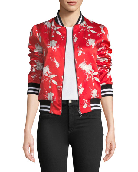 Lonnie Reversible Silk Bomber Jacket
