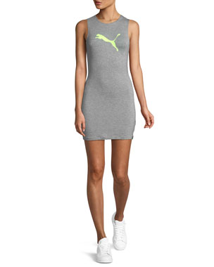 9b4a4a714926 Fenty Puma by Rihanna Zip-Back Mini Jersey Tank Dress
