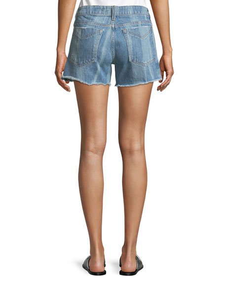 Quinn Long Girlfriend Denim Shorts
