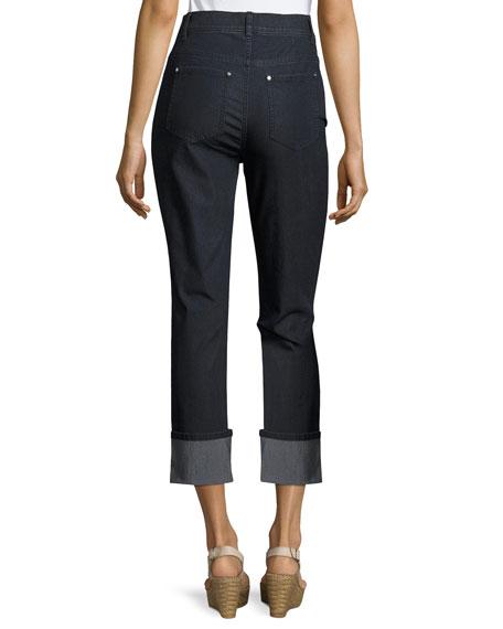 Lafayette 148 New York Dahlia Cropped Cuffed Jeans