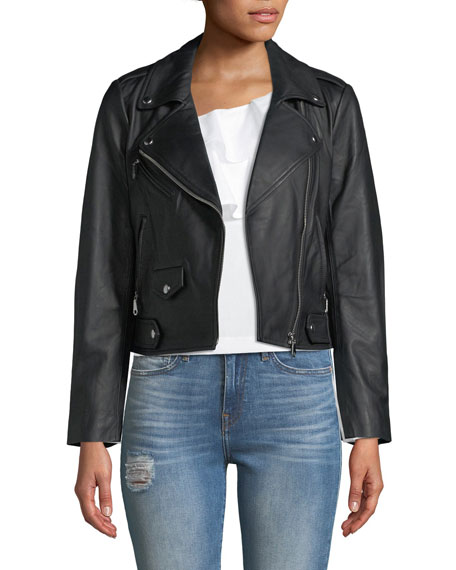 Wes Love Doves Leather Motorcycle Jacket