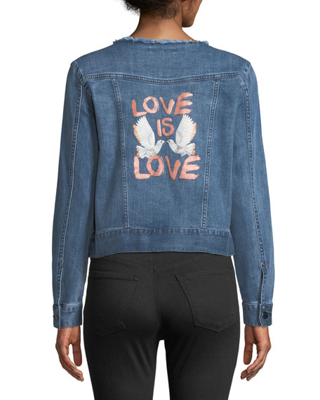 Rebecca Minkoff Charlie Love Is Love Denim Jacket
