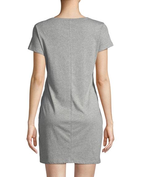 Mary Knit Tie Waist Mini Dress