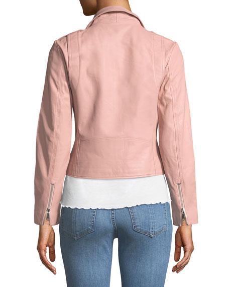 Wes Leather Zip Moto Jacket