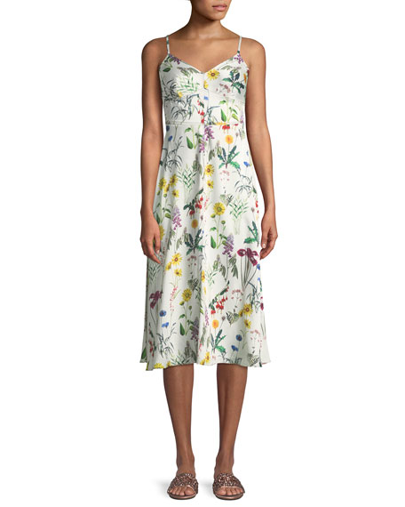 Bailey 44 Fly Trap Sleeveless Floral-Print Dress