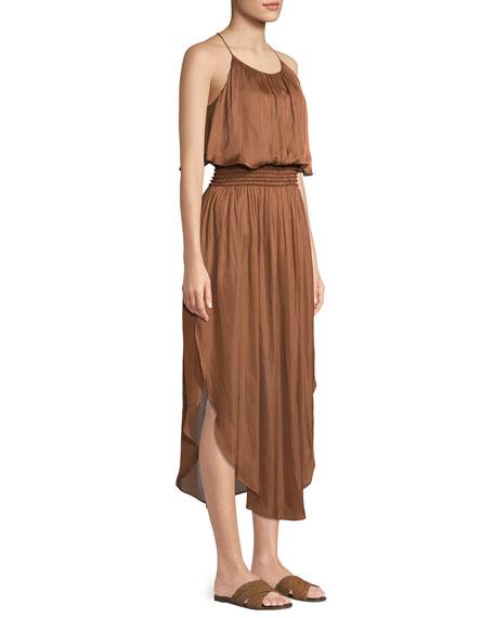 Smocked-Waist Sleeveless Dress