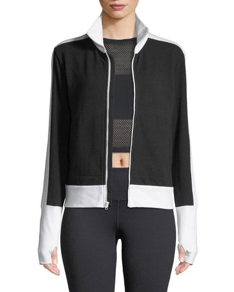 Side-Stripe Turtleneck Jacket