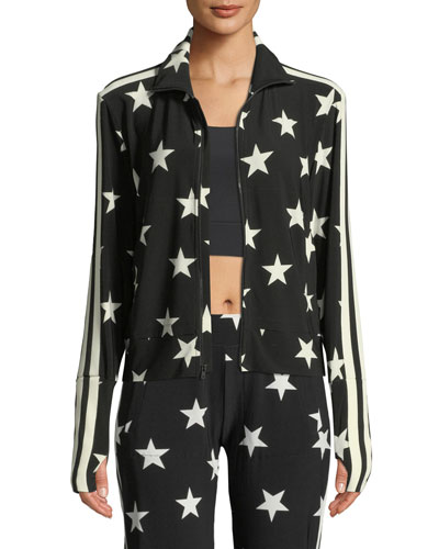 Star-Print Side Stripe Turtle Jacket