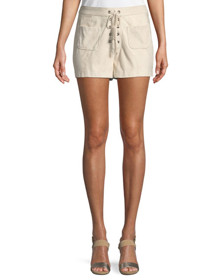 Cupcakes and Cashmere Esley Lace-Up Shorts