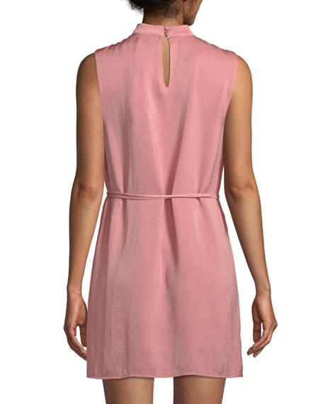 Hansel V-Neck Mini Dress with Self-Tie Waist