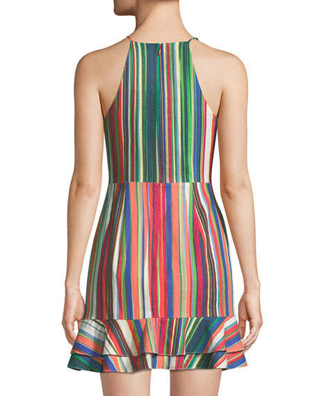Jay Sweetheart Sleeveless Striped Linen Dress
