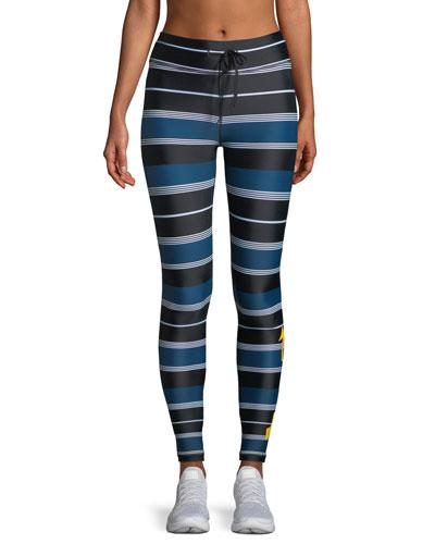 St. Tropez Striped Yoga Pants