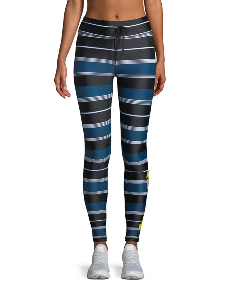 St. Tropez Striped Yoga Pants
