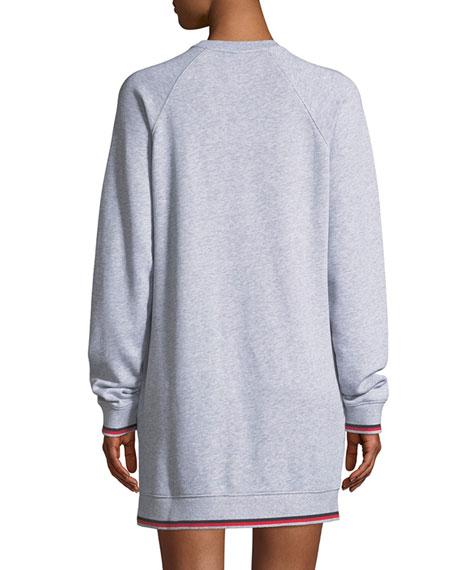 Knockout Crewneck Long-Sleeve Cotton Dress