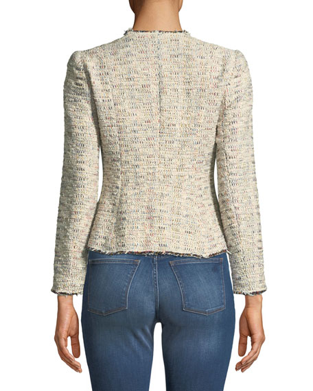 Rainbow Tweed Peplum Jacket