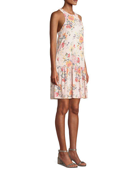 Marlena Sleeveless Floral-Print Jersey Dress