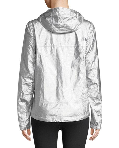 Hooded Wind-Resistant Metallic Anorak