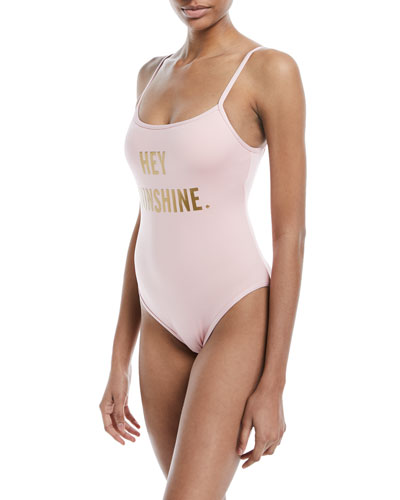 hey sunshine classic one-piece swimsuit