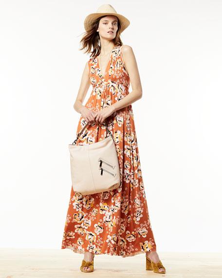 Long Sleeveless Zahara-Print Dress, Plus Size