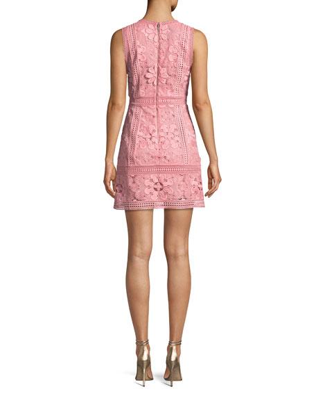 Zula Sleeveless V-Neck Lace Mini Party Dress
