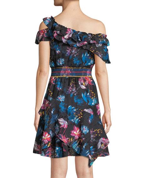 Meegan Dutch Garden Off-the-Shoulder Floral-Print Mini Dress
