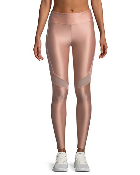 Koral Activewear Western High-Rise Mesh-Panel Performance Leggings