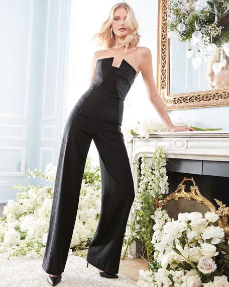Lena Tuxedo Strapless Jumpsuit