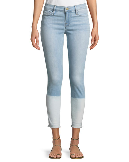 Le Skinny de Jeanne Crop Released-Hem Jeans