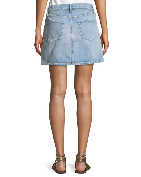 Le Mini Denim Skirt