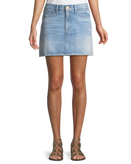 Le Mini Denim Skirt by Frame