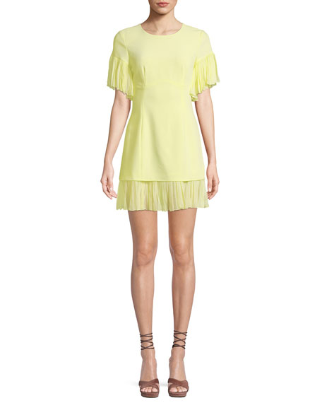 cinq a sept Rosaria Crewneck Short-Sleeve Sheath Dress